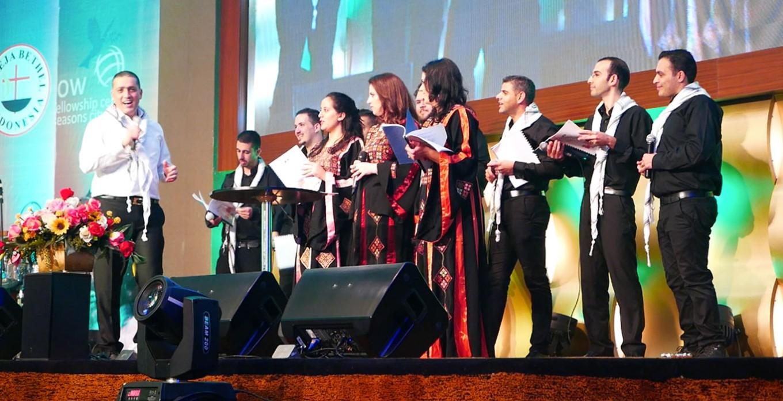 Palestine choir group performs Arabic Christmas songs