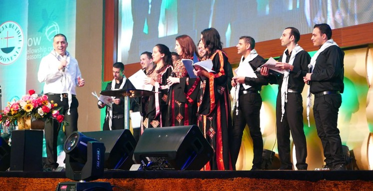 Palestine choir group performs Arabic Christmas songs