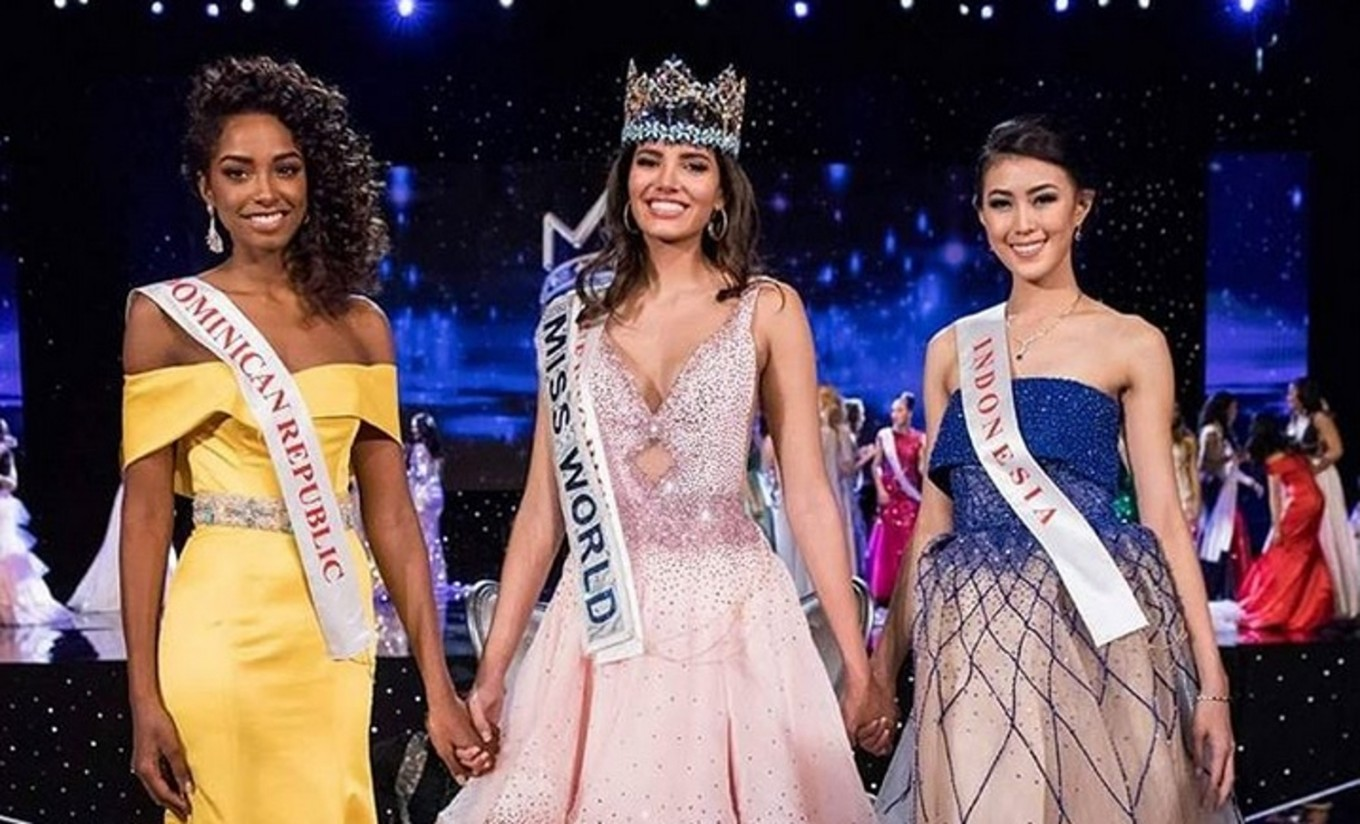Miss Indonesia named second runner-up in Miss World 2016
