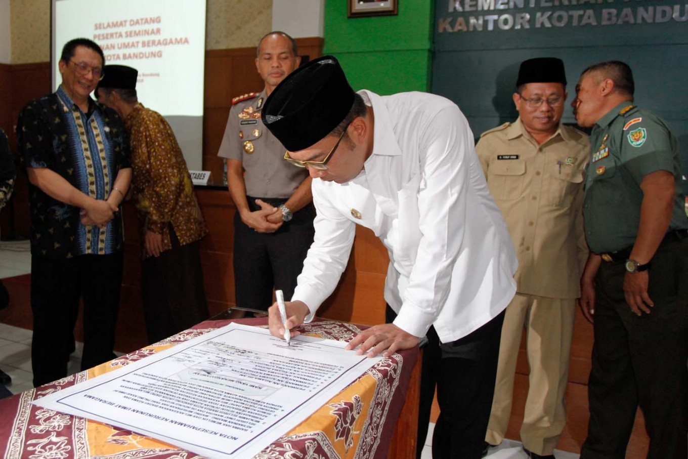 Bandung mayor forms tolerance task force following intolerant incidents