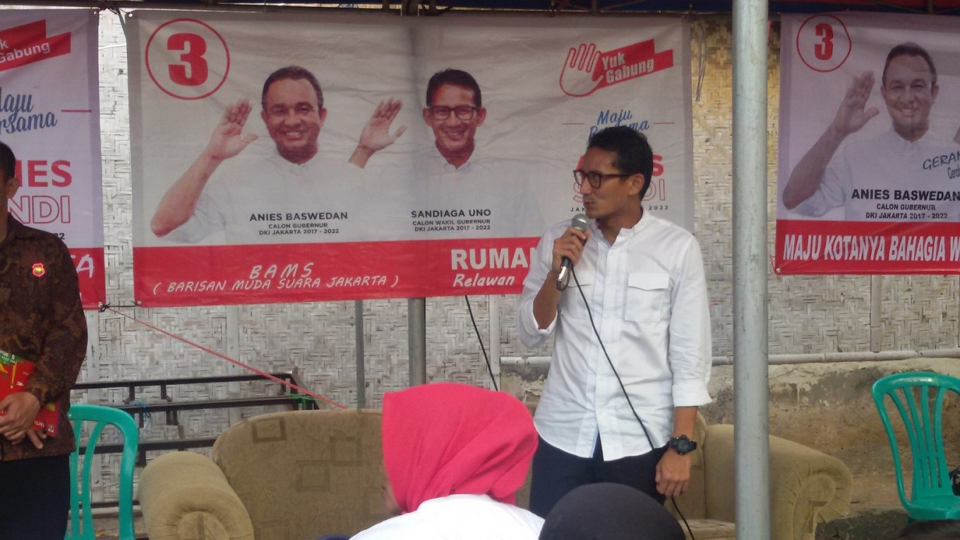 Sandiaga promises more incentives to community and neighborhood heads