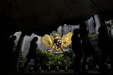 Jakartas Cathedral Church adorned with Betawi cultural decorations - Cit...