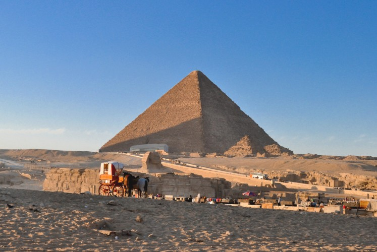 Marveling at Egypt's historic civilization, man-made structures