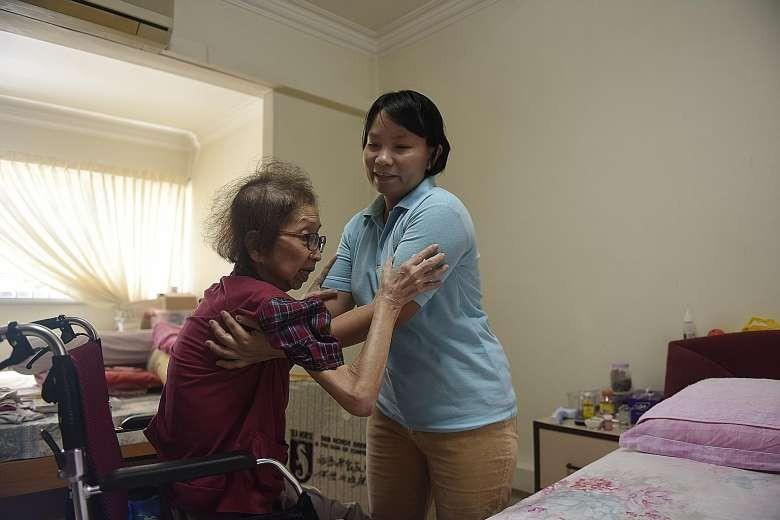 Elderly sick in Singapore turn to foreign, live-in caregivers