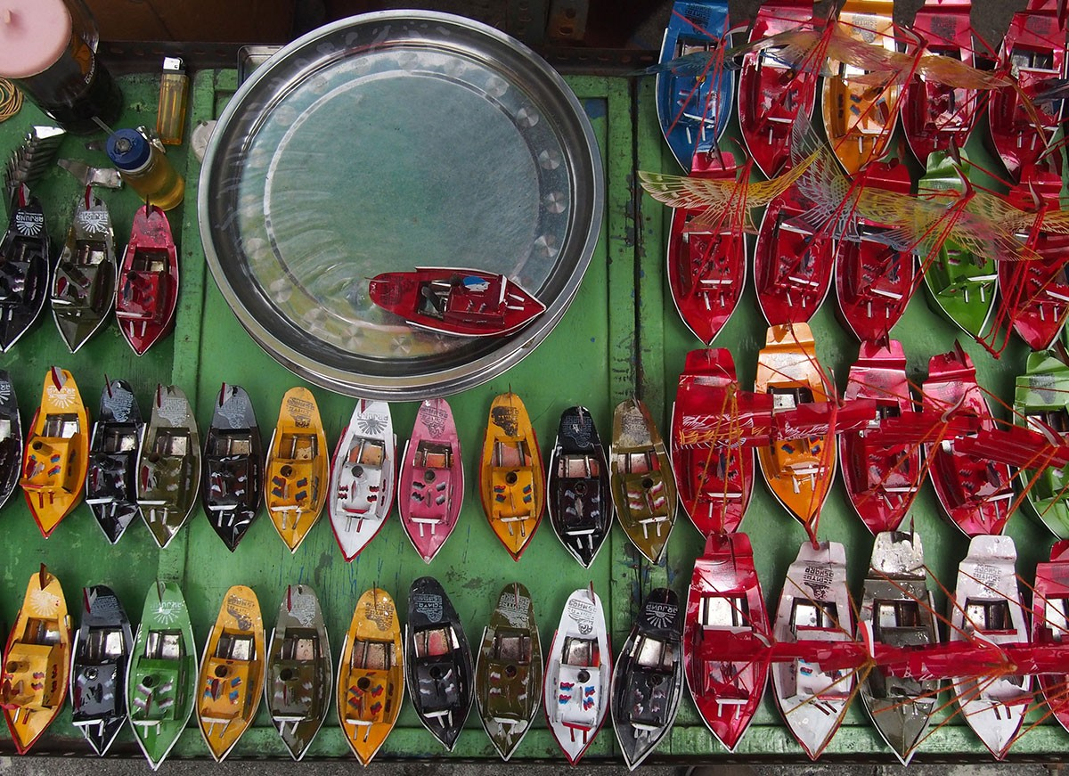 "A traditionally made boat toy called ""otok-otok"" is always available during Sekaten. JP/Ganug Nugroho Adi"