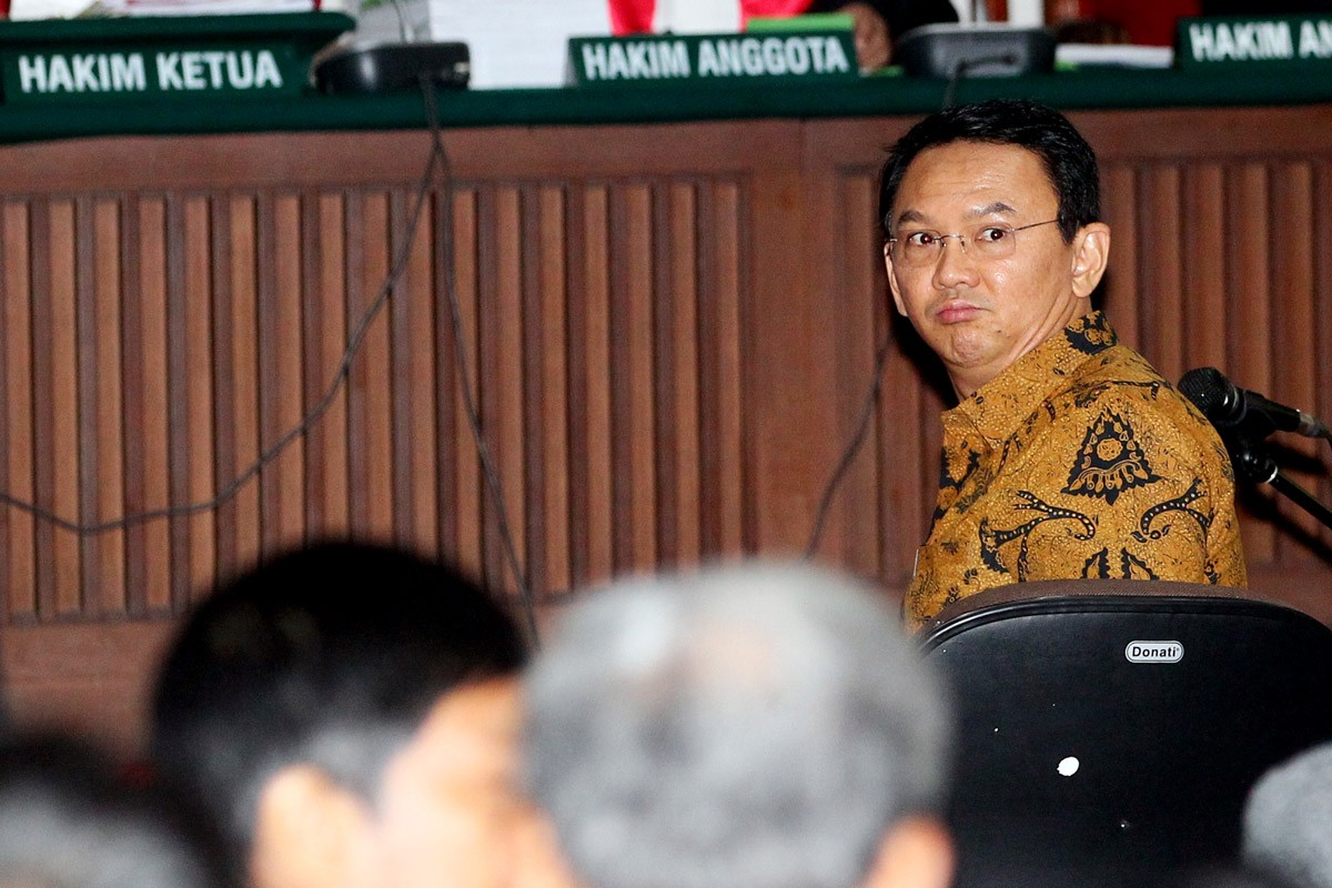 Ahok's lawyers criticize witness' background, noting him as Agus supporter