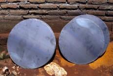 The circular plates will be made into a bonang, a medium-sized metal percussion set. JP/Aditya Sagita