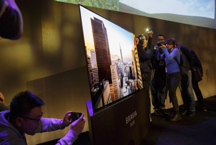 Sony's new high definition TV has a screen that's also a speaker