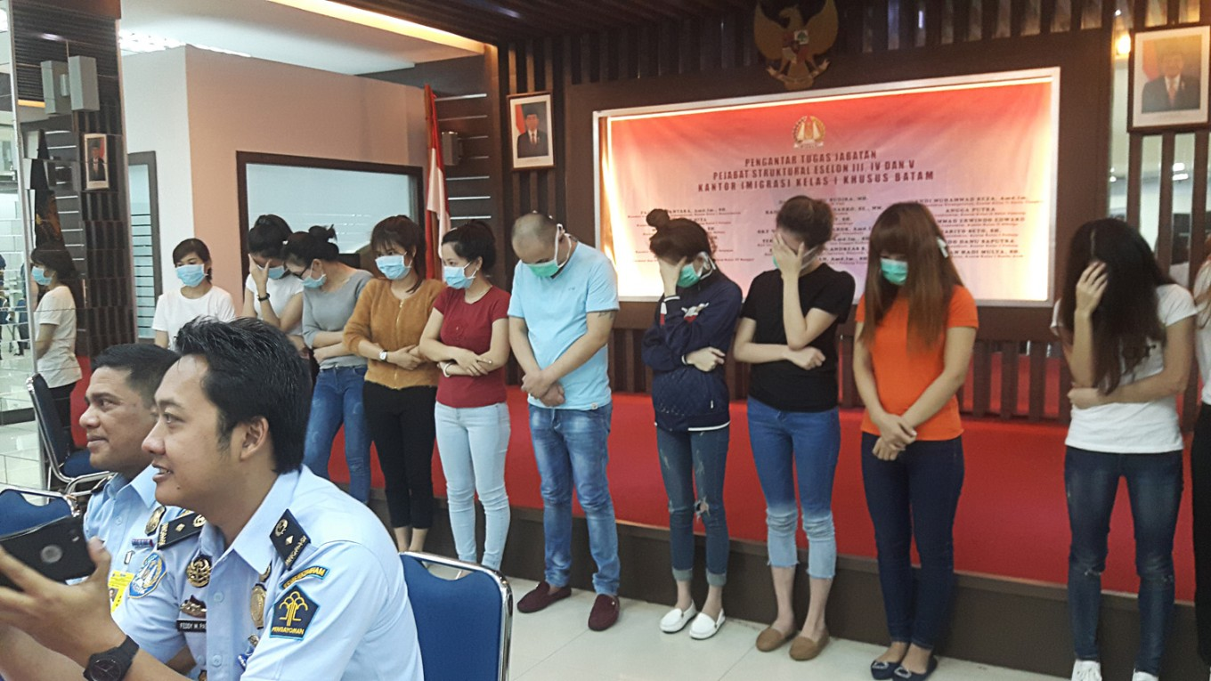 Govt arrests 32 alleged sex workers in Jakarta, mostly from Vietnam