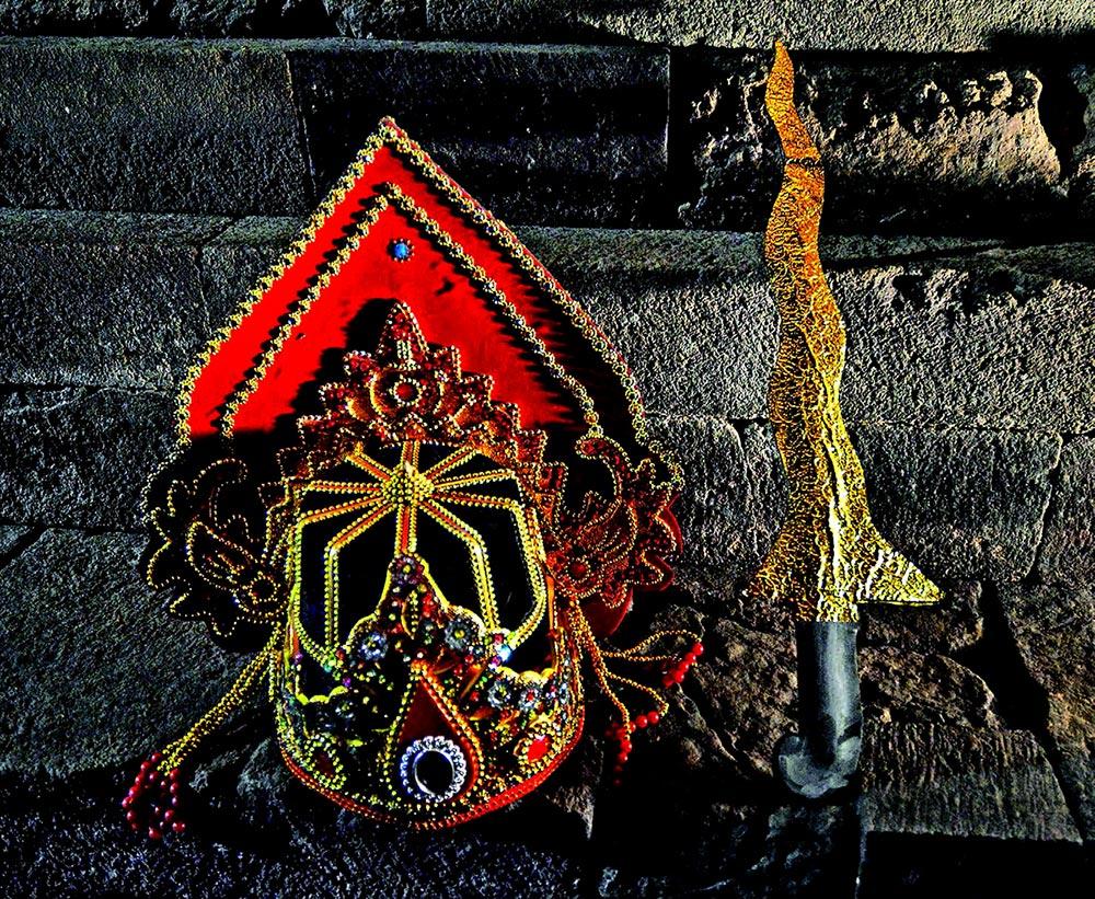 Mask dance at Kidal Temple