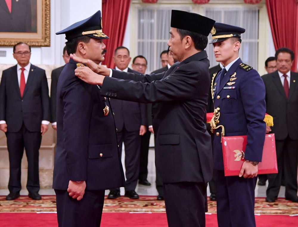Jokowi installs new Air Force chief of staff
