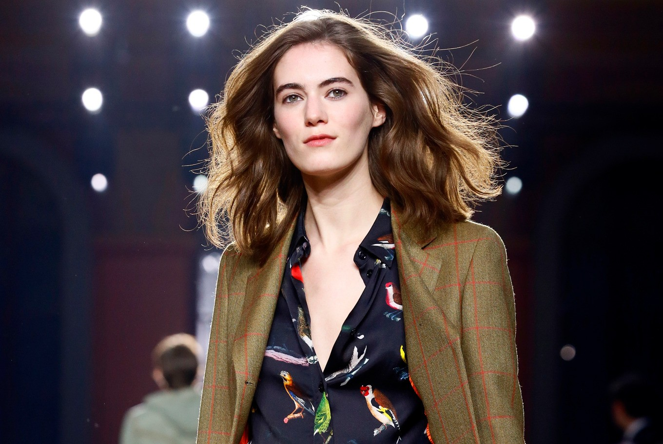 Models female at menswear shows