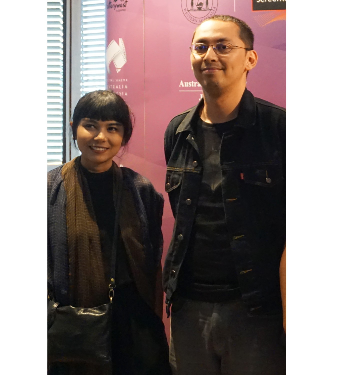 Kamila Andini (left) and Mahesa Desaga (right) pictured together after the Australia-Indonesia Cinema Festival's short film competition winner announcement at XXI Senayan City theater, South Jakarta. Image: JP/Masajeng Rahmiasri