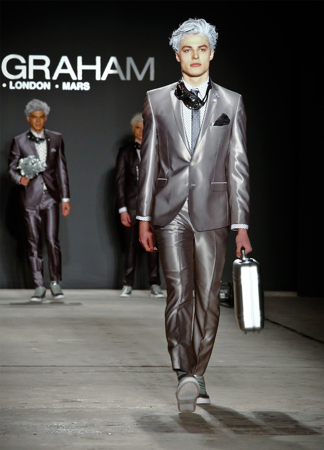 At mens fashion week a collection was out of this world fashion from the nick graham collection is modeled during mens fashion week tuesday jan 31 2017 in new yorkap photobebeto matthews stopboris Image collections