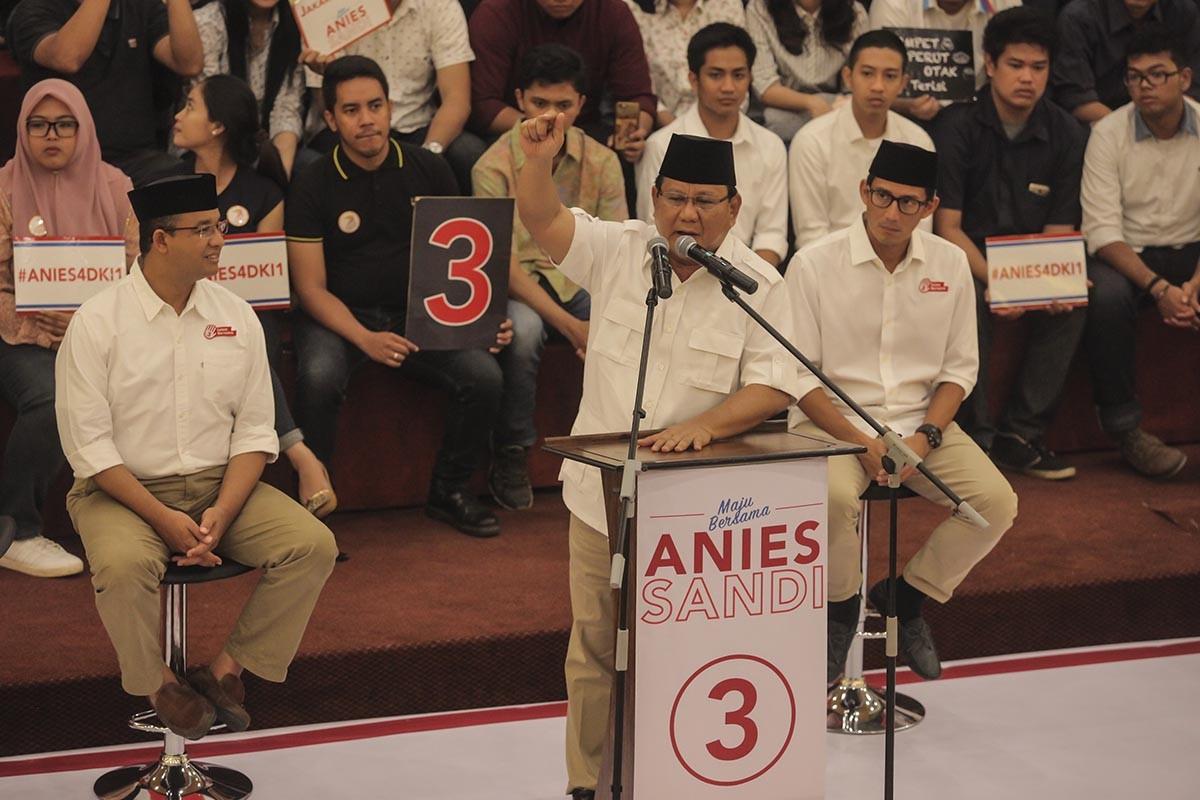 Prabowo to support Anies' campaign ahead of runoff