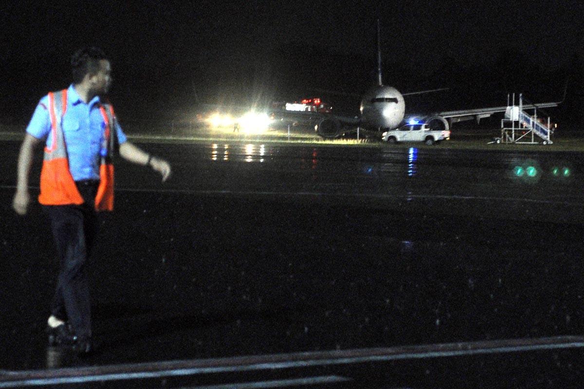 Garuda airplane skids off runway, no injuries reported
