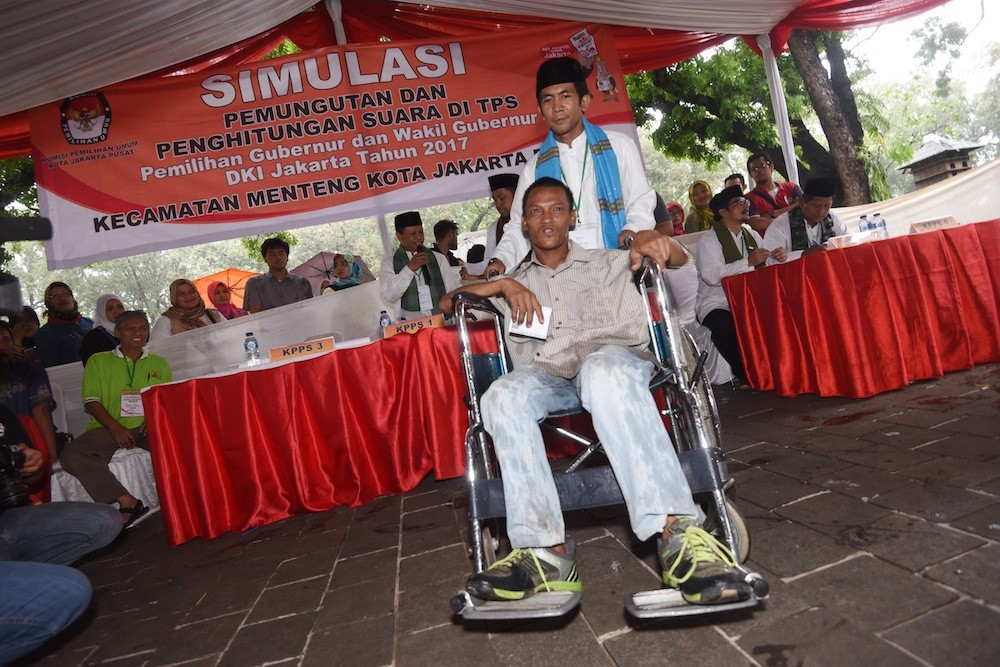 KPU Jakarta prepares services for disabled voters