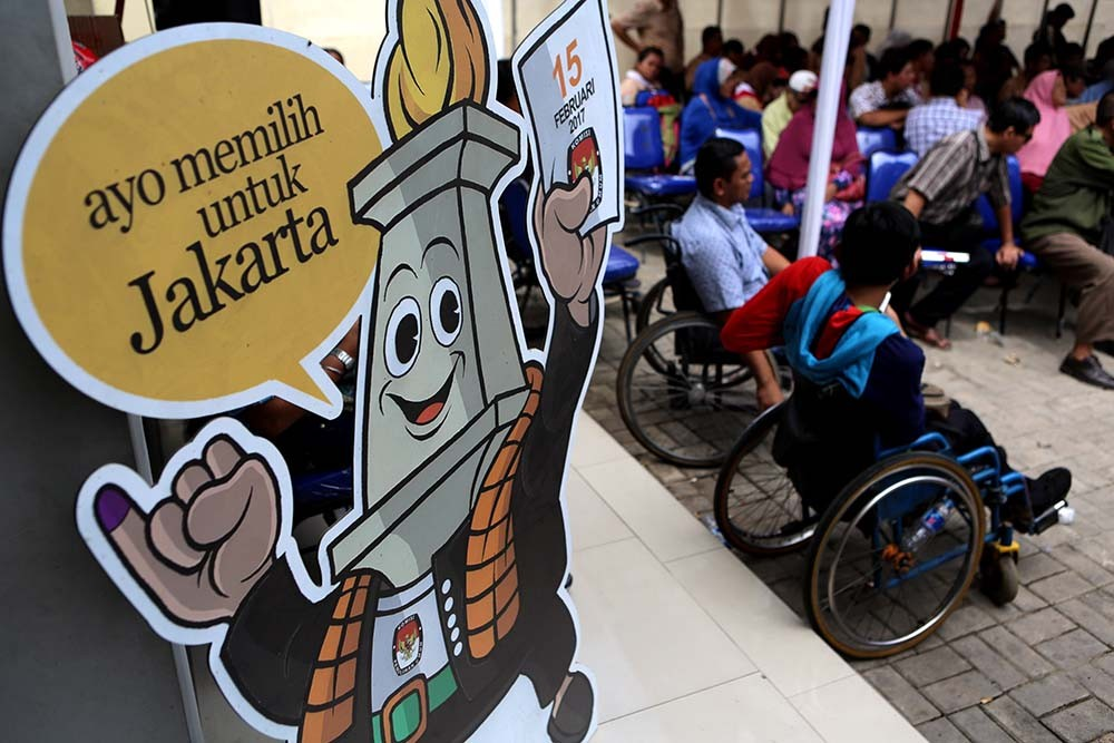 Disabled voters in West Papua's Manokwari get special polling booths