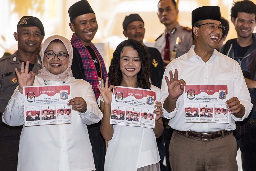 Anies eyes second round in Jakarta election