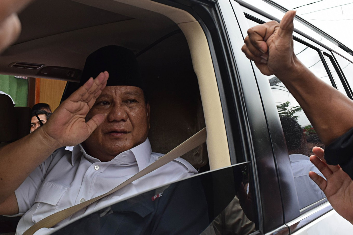 Prabowo denies his party is whipping up red scare