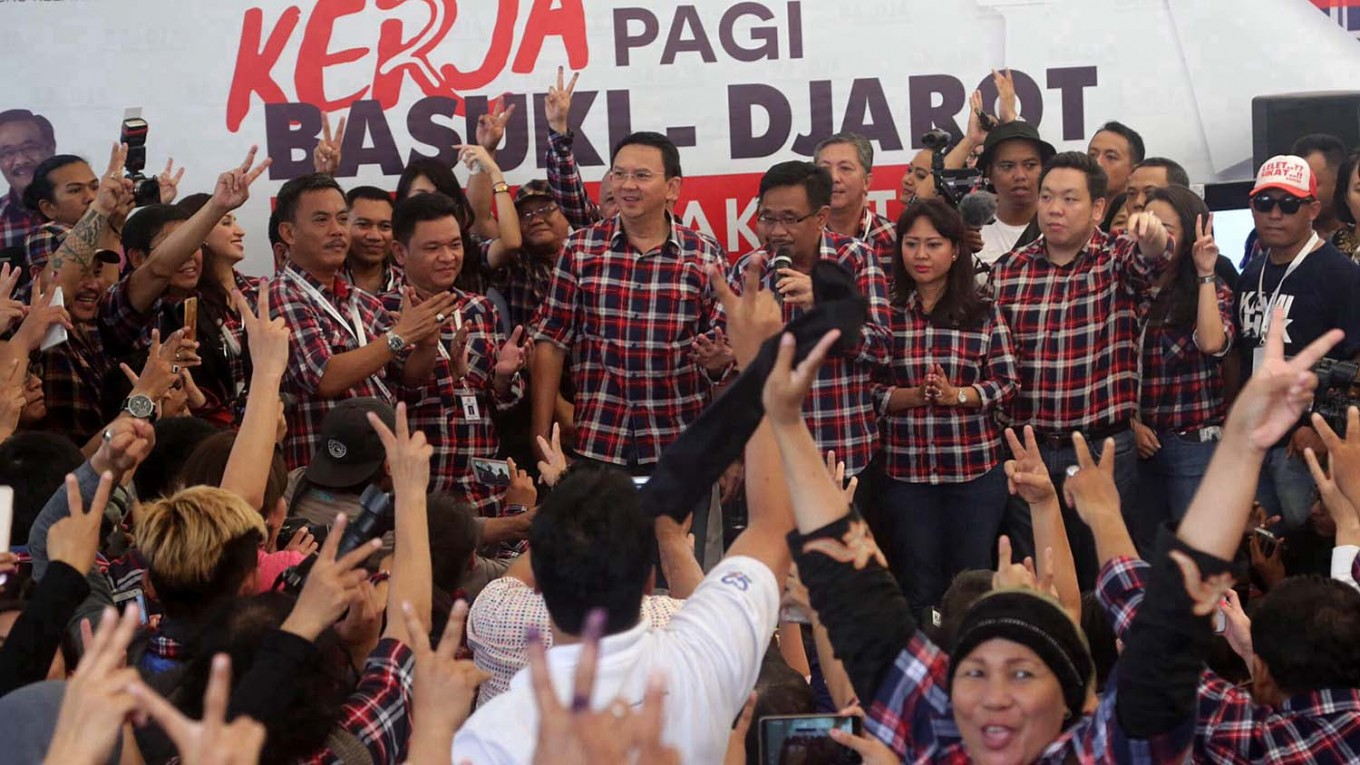 Ahok, Djarot told to take leave again for runoff campaign