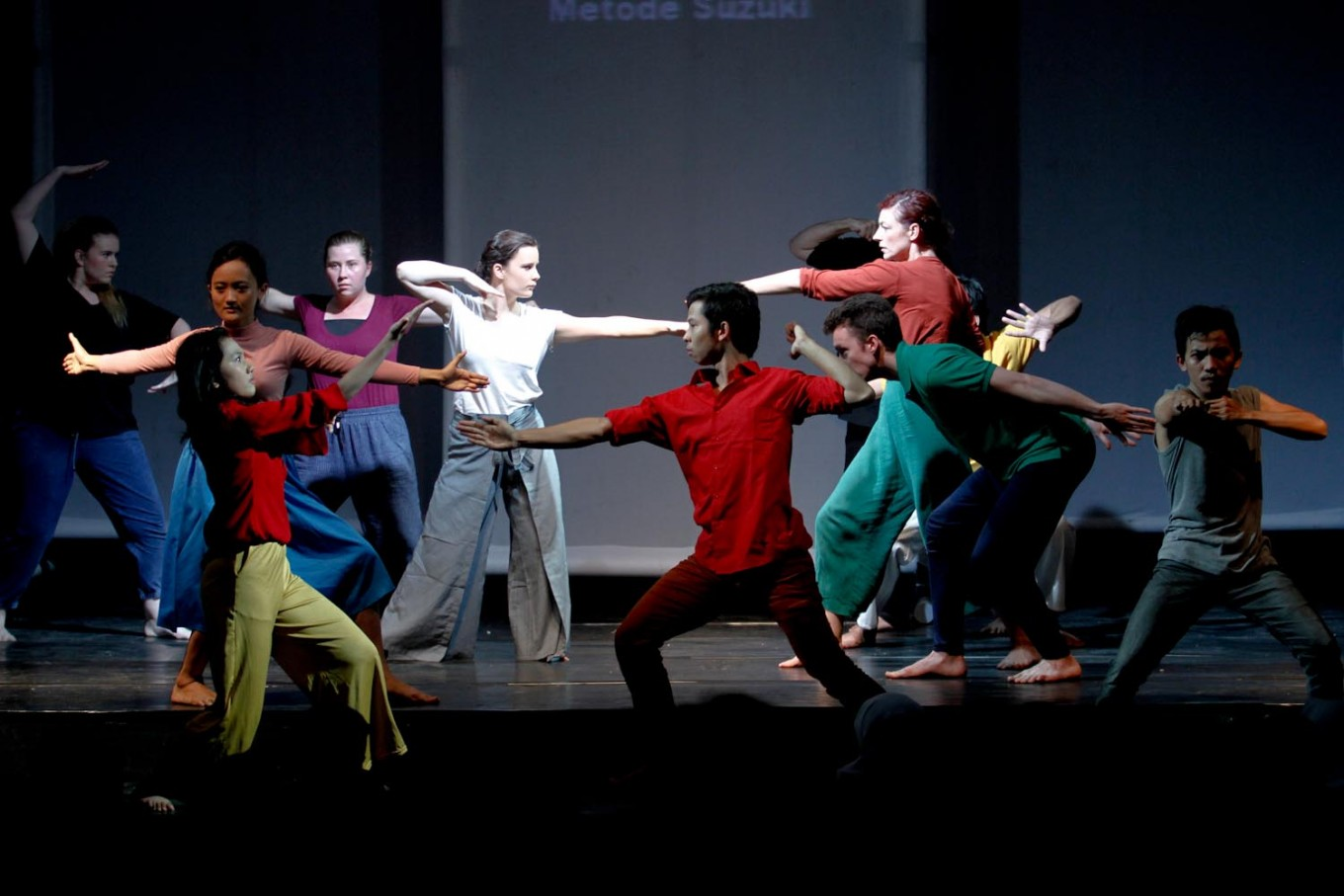 In addition to using two languages, the show also conveys its message through dance. .