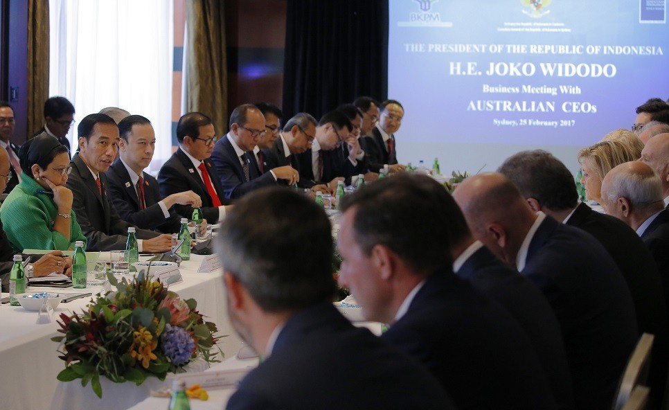 Jokowi meets Australian CEOs, shares confidence about Indonesia's economy