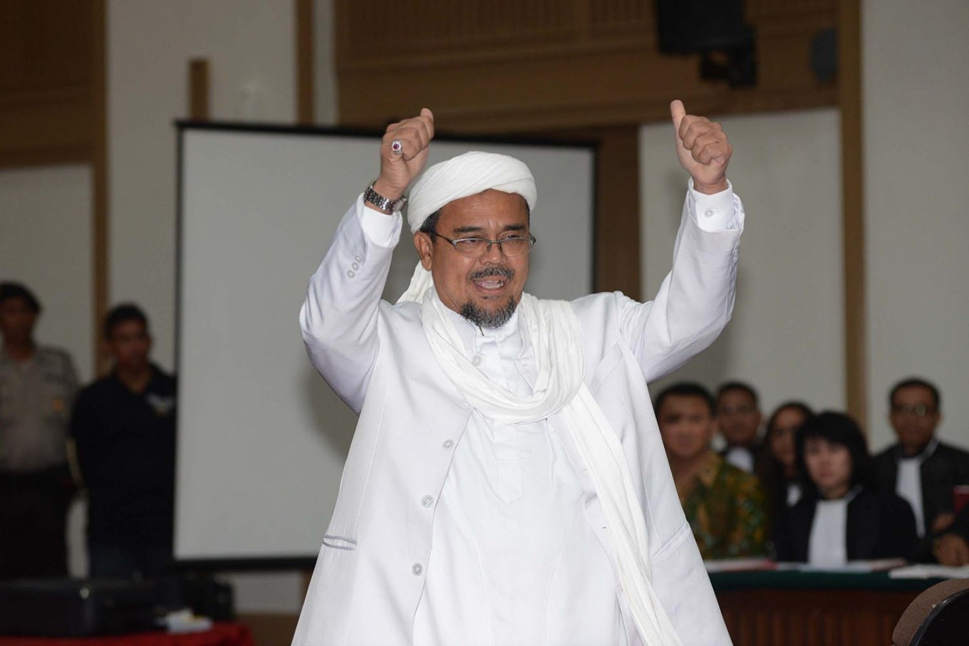 Rizieq may leave Saudi Arabia. But only if he pays fine for overstaying, Indonesia's envoy says