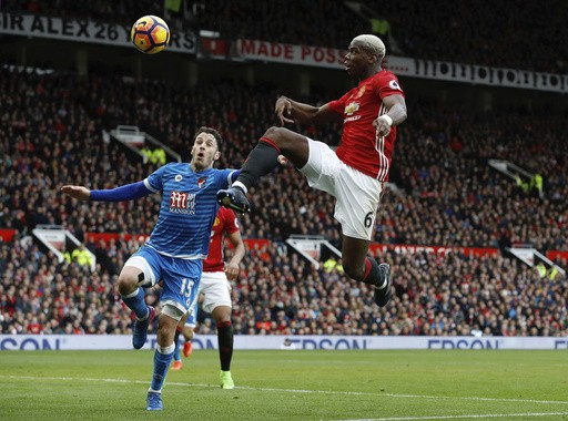 Ten-man Bournemouth frustrates Manchester United