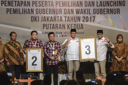 Anies camp protests fixed voters list