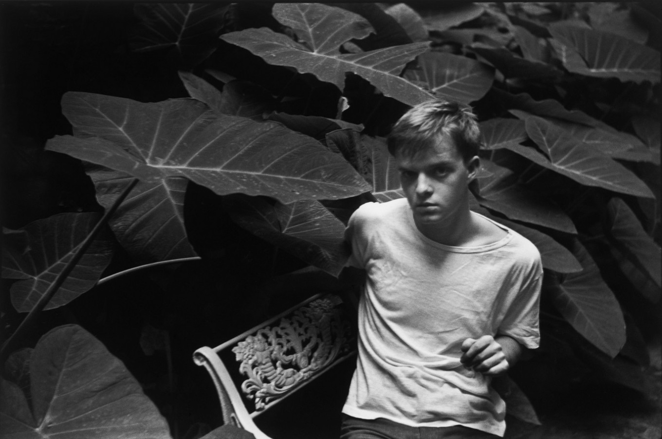 Portrait of the American writer Truman Capote, in New Orleans, USA, in July 1946 when Henri Cartier-Bresson toured the States with another writer and his then wife, Ratna, Images a la Sauvette (Verve 1952) p 68.