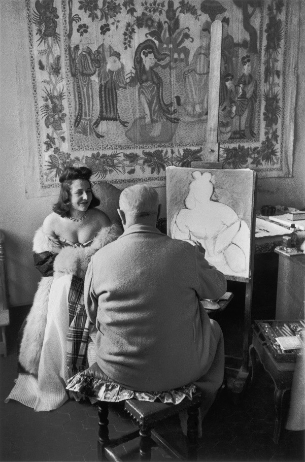 Henri Matisse painting his favourite model Micaela, Vence, France,1944, from the book Images a la Sauvette, (Verve 1952).