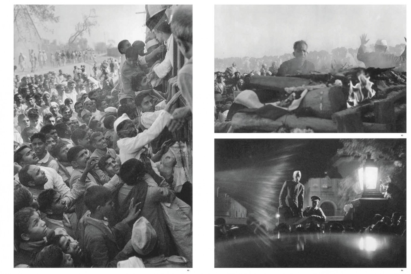 Gandhi's funeral, Delhi, India 1948, from Images a la Sauvette (Verve 1952) p 99-100.