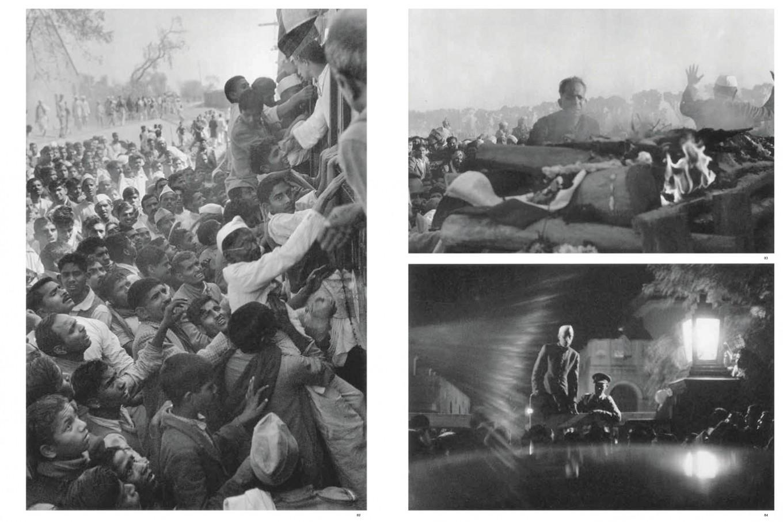 Gandhi's funeral, Delhi, India 1948, from Images a la Sauvette (Verve 1952) p 99-100.