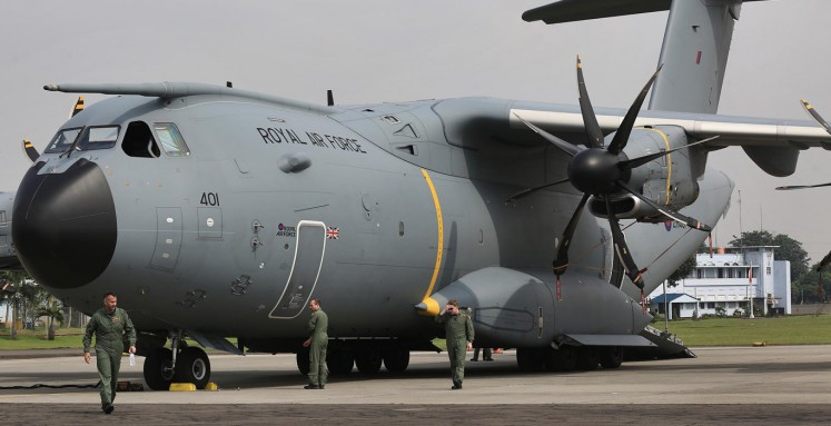 Royal Air Force's A400M visits Jakarta on whirlwind tour