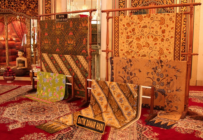 A vast number of old batik fabrics can be found at Danar Hadi's Dalem Wuryaningratan museum on Jl. Slamet Riyadi, Surakarta, Central Java.