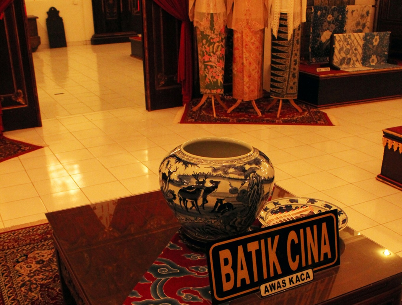 Visitors can also marvel at the collection of Batik Cina at the museum.