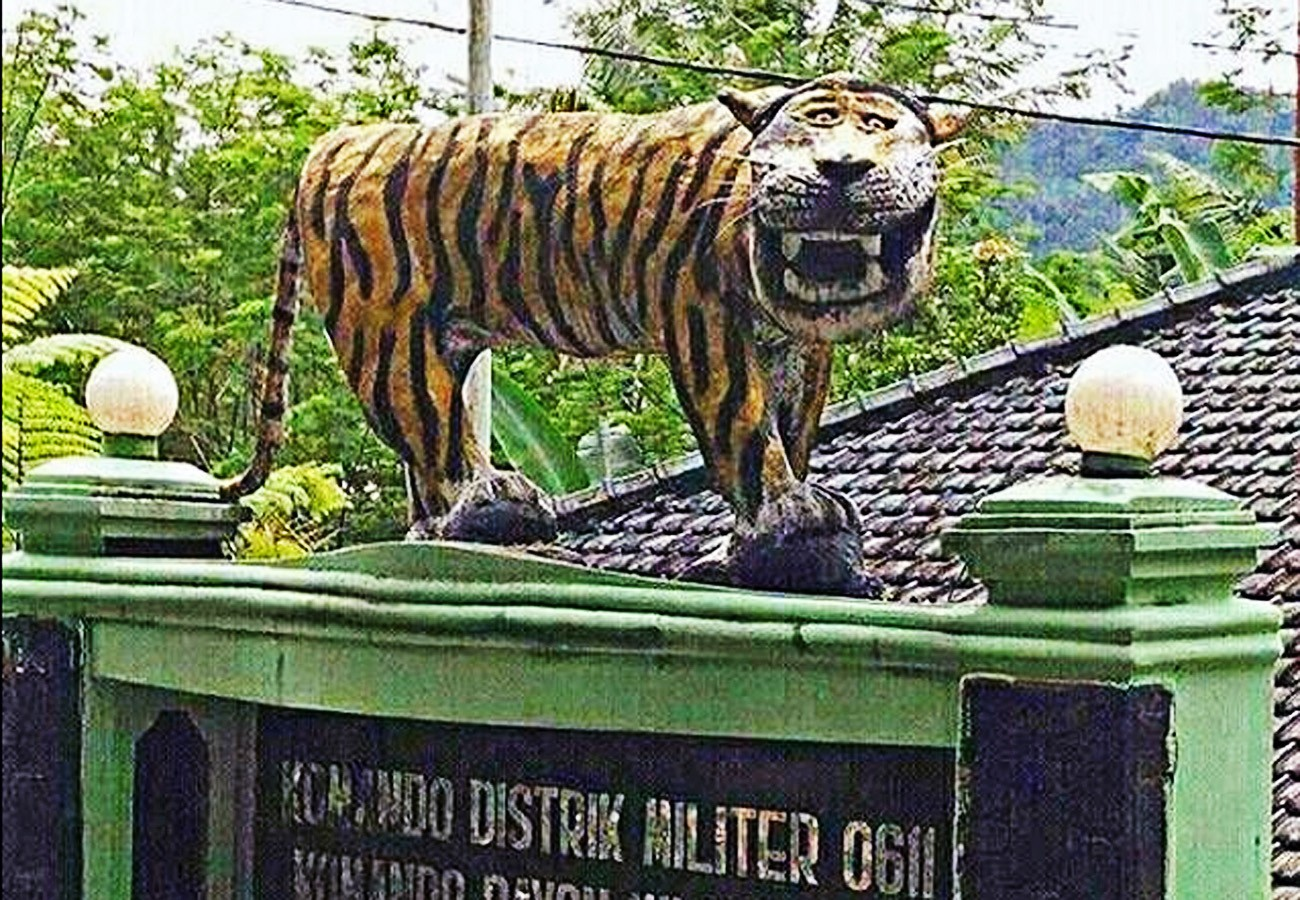 Comical tiger statue at military base torn down but netizen frenzy remains