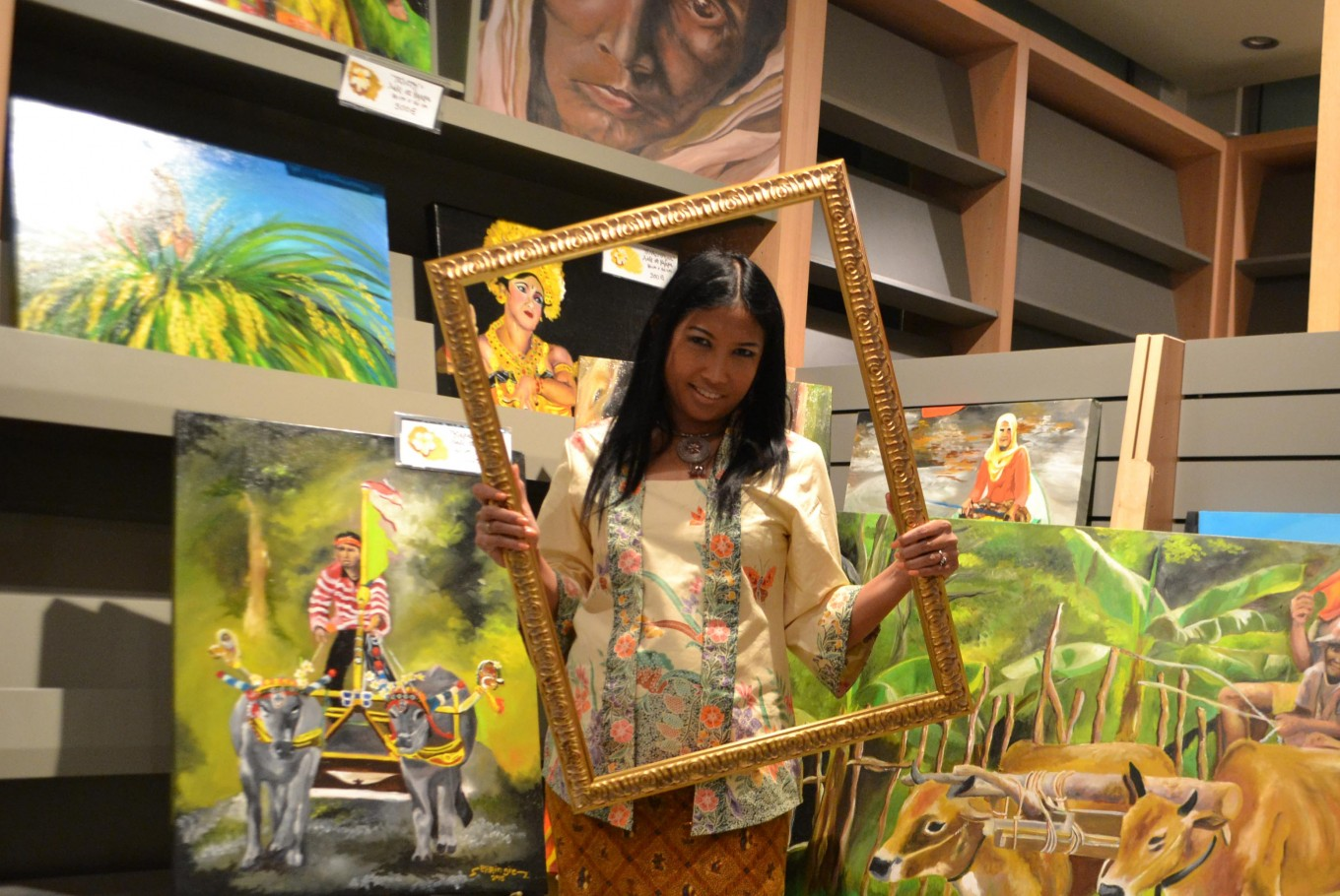 Cepu-born painter wants to showcase Indonesian culture on the international stage