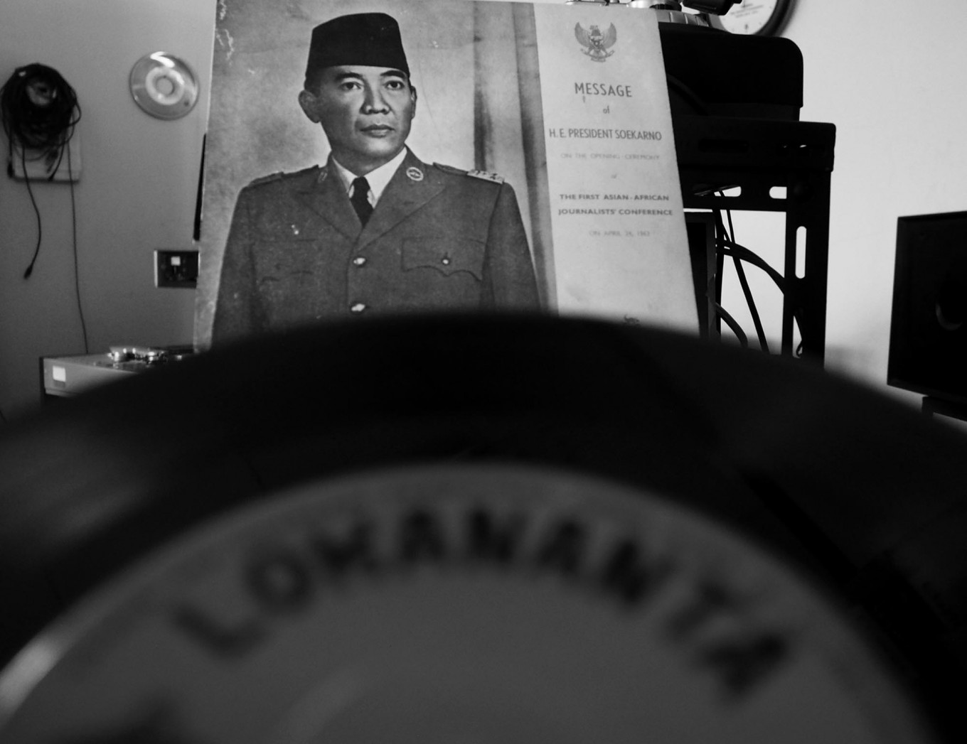 One precious vinyl features then president Sukarno's speech on Indonesia's declaration of independence on Aug. 17, 1945. JP/Ganug Nugroho Adi