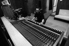 A staff member operates an audio mixer in one of the recording rooms at Lokananta. JP/Ganug Nugroho Adi