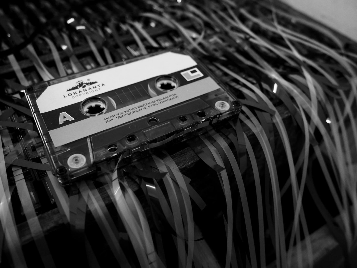 A Lokananta cassette lies on a machine. JP/Ganug Nugroho Adi