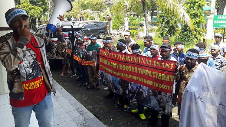 Papuan student faces trial in Yogyakarta over political activities