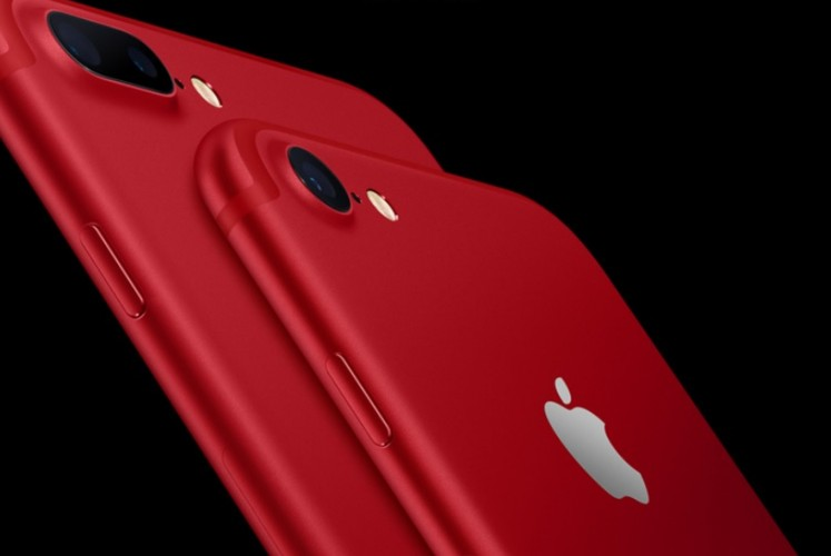 Apple unveils red iPhone 7 and 7 plus