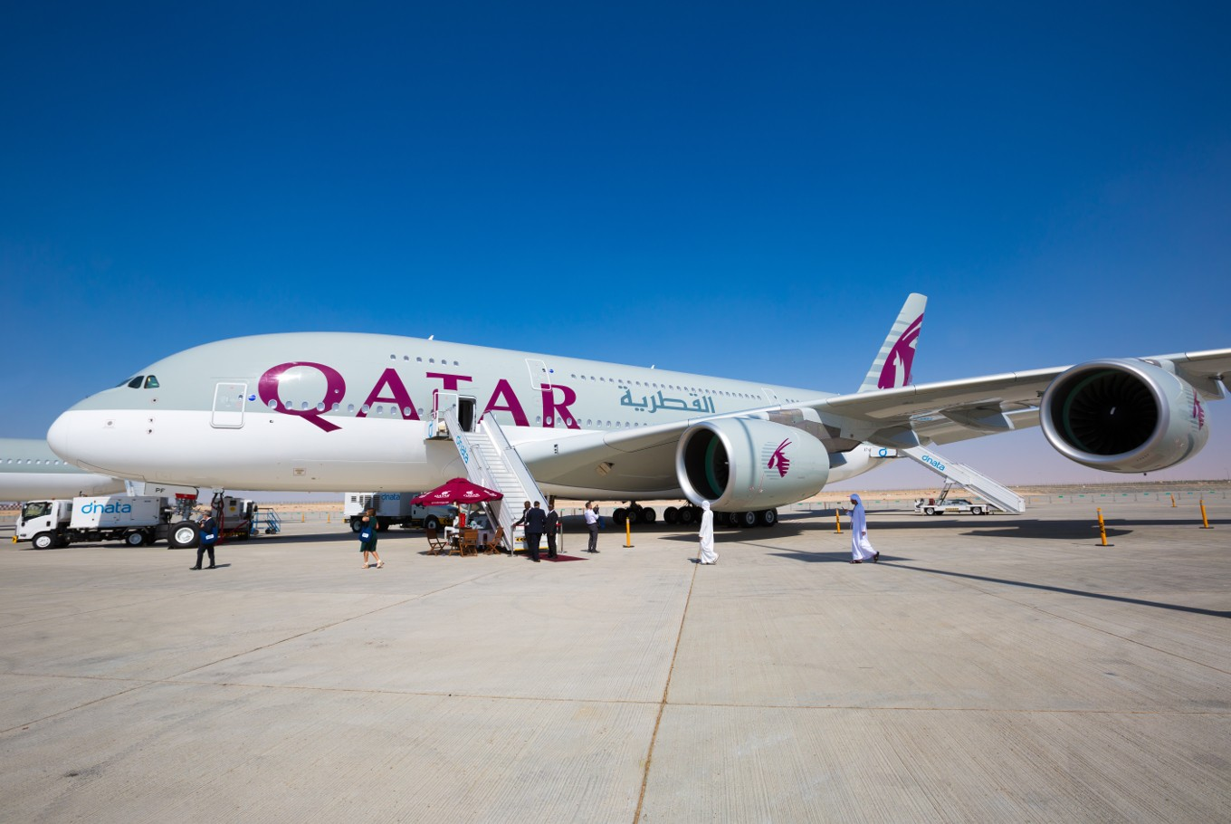 Qatar airways receives worlds first airbus a350 1000 news the qatar airways receives worlds first airbus a350 1000 stopboris Image collections