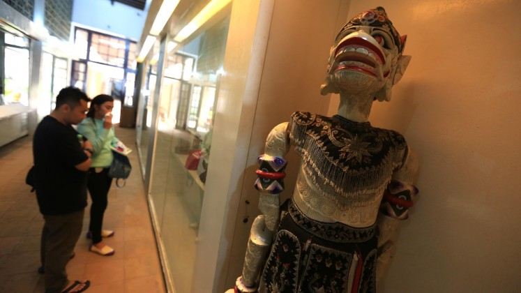 Visitors marvel at the puppet collection at the Shadow Puppet Museum in West Jakarta on March 21, 2017.