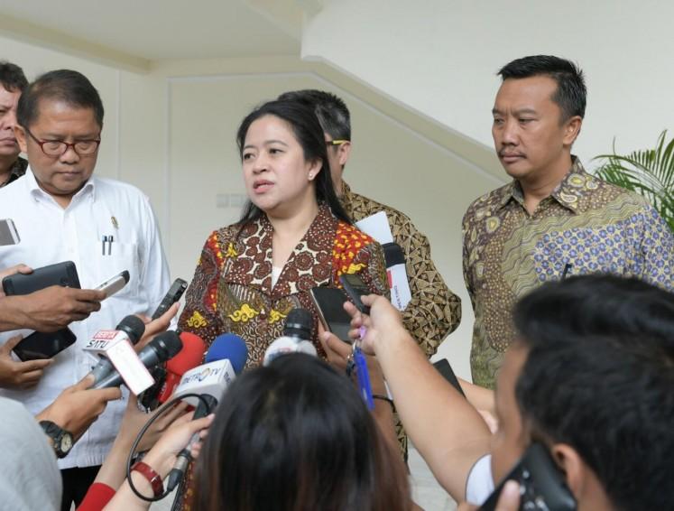 Coordinating Human Development and Culture Minister Puan Maharani.