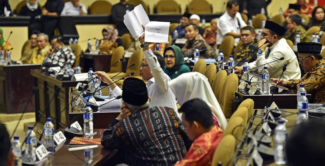 Indonesia's DPD plenary session turns ugly