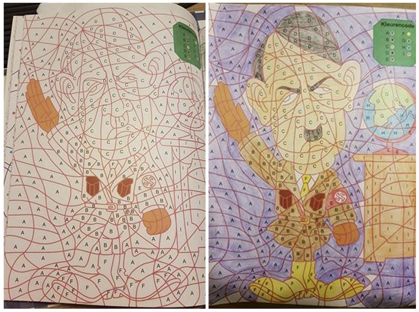 Coloring Book With Hitler Image Pulled From Dutch Stores
