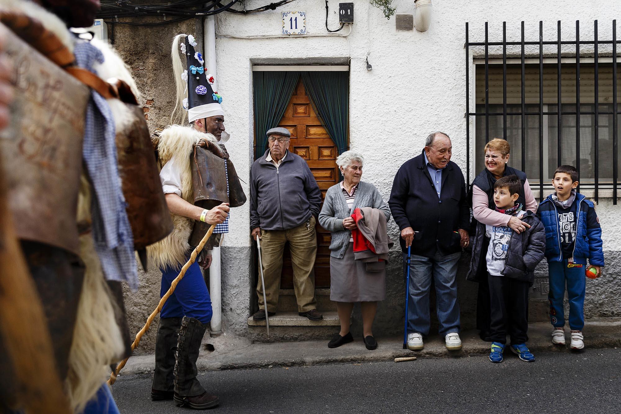 Spanish parades feature bizarre costumes, masks